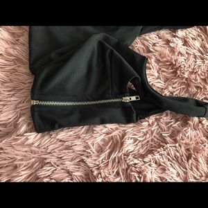 Tops - Black Deep V Neck Crop Top